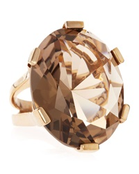 Stephen Dweck Oval Cut Smoky Quartz Ring Grey