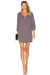 Three Eighty Two Penelope Lace Up Mini Dress Grey