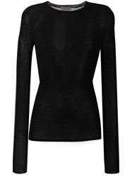 Tony Cohen Knitted Fitted Top Black