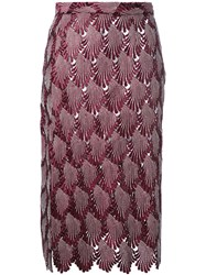 Marco De Vincenzo Pleated Skirt Women Polyester Viscose 44 Red
