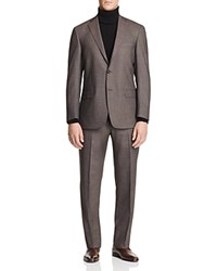 Hart Schaffner Marx Birdseye Classic Fit Suit 100 Bloomingdale's Exclusive Brown