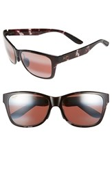 Men's Maui Jim 'Road Trip' 57Mm Polarized Sunglasses Black And Grey Tortoise Rose