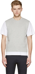 Marni Heather Grey And White Boxy T Shirt
