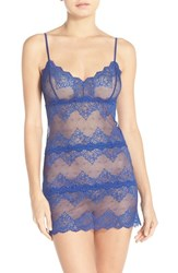 Only Hearts Club Women's Only Hearts 'So Fine' Lace Chemise Royal