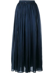 Mes Demoiselles Silk Maxi Skirt Blue
