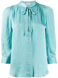 Zadig And Voltaire Cravat Tie Blouse Blue