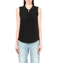 Sandro Elfe Sleeveless Silk Top Noir