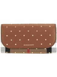 Burberry Studded 'House Check' Wallet Brown