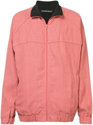 Y Project Contrast Collar Bomber Jacket Red