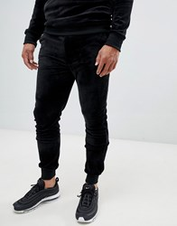 Another Influence Velour Slim Fit Joggers Black