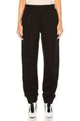 Fenty By Puma Fleece Pant With Velvet Taping In Black