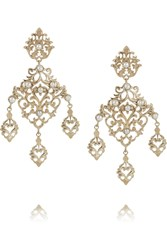 Isharya Jaali Gold Plated Freshwater Pearl Earrings