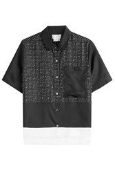 Dkny Printed Silk Shirt Black
