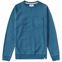 Norse Projects Ketel Dry Cotton Crew Sweat Blue