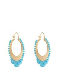 Irene Neuwirth Turquoise And Yellow Gold Earrings Blue