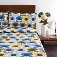 Orla Kiely Multi Flower Oval Duvet Cover Marine Double