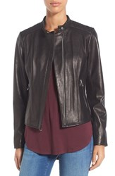 Marc New York Women's By Andrew 'Liv' Lambskin Leather Jacket Black
