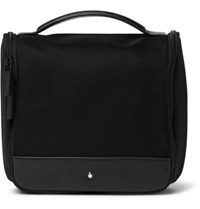Montblanc Nightflight Leather Trimmed Canvas Wash Bag Black