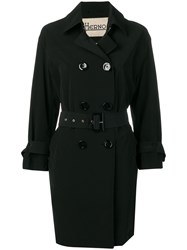 Herno Belted Trench Coat Black
