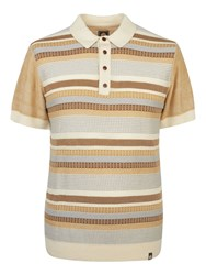 Pretty Green Men's Fortrose Knitted Polo Stone