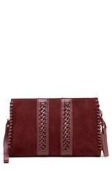 Sole Society Wahli Clutch Red Oxblood