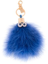 Sophie Hulme Romeo Keyring Women Feather Metal One Size Blue