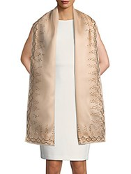 Carolina Herrera Embellished Silk Stole Gold