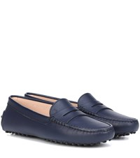 Tod's Gommino Leather Loafers Blue