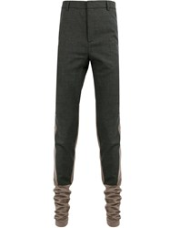 Y Project Colour Contrast Tailored Track Pants Black