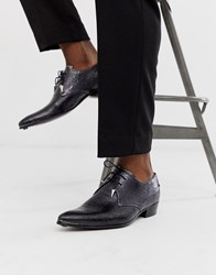 Jeffery West Adamant Cuban Shoes In Cracked Silver