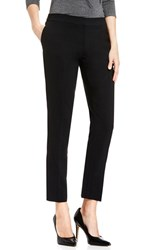 Vince Camuto Women's Textured Skinny Ankle Pants Rich Black