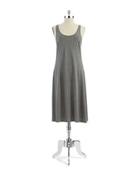 Lord And Taylor Long Tank Chemise Charcoal