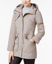 Vince Camuto Cinched Waist Parka Clay
