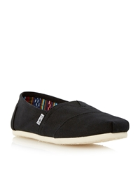 Toms Classic Lace Up Casual Espadrilles Black