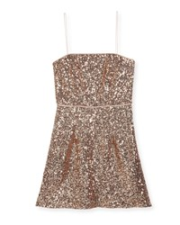 Milly Minis Laci Sequin Mini Dress Size 8 16 Rose Gold