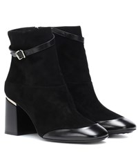 Tod's Leather And Suede Ankle Boots Black