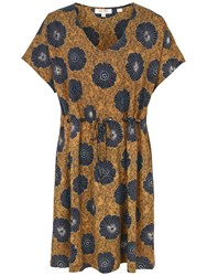 Fat Face Eliza African Floral Dress Honey