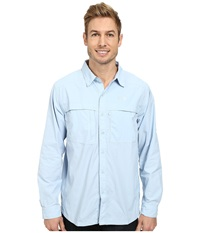 The North Face Long Sleeve Cool Horizon Shirt Tofino Blue Men's Long Sleeve Button Up