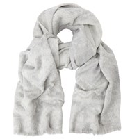 John Lewis Double Faced Ombre Ruana Wrap Marl Grey