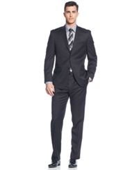 Andrew Marc New York Marc New York By Andrew Marc Black Tonal Plaid Suit