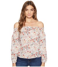 Brigitte Bailey Karlee Off The Shoulder Floral Top Off White Women's Clothing