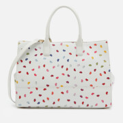 Lulu Guinness Women's Daphne Confetti Lip Print Tote Bag Pale Grey Multi