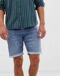 Only And Sons Denim Shorts In Regular Fit Washed Blue Denim