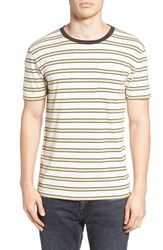 Brixton Men's Stripe Pocket T Shirt