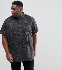 Loyalty And Faith Plus Marl Polo Shirt Black