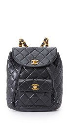 Wgaca Chanel Classic Backpack Previously Owned Black