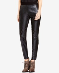 Vince Camuto Two By Mixed Media Faux Leather Leggings Rich Black