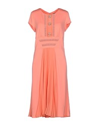 Vdp Collection Dresses Knee Length Dresses Women Coral