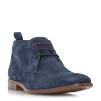 Dune Murray Two Toned Lace Up Chukka Boots Navy