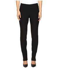 Lisette L Montreal Rosette Pattern Slim Pants Black Women's Dress Pants